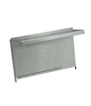 "Diamond Series Heavy Duty Backguard/Flue Riser, 12"", single high shelf, stainles"