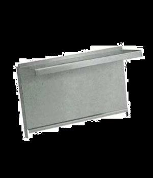 "Diamond Series Heavy Duty Backguard/Flue Riser, 108"", without shelves, stainless"