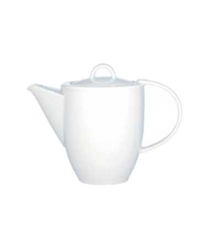 Coffeepot #7, 10-1/4 oz., with lid, premium porcelain, Corpo White (DE Stock)