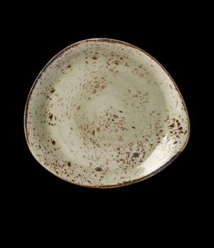 """Plate, 12"""" dia., free style body, narrow rim, freezer/microwave/dishwasher safe,"""