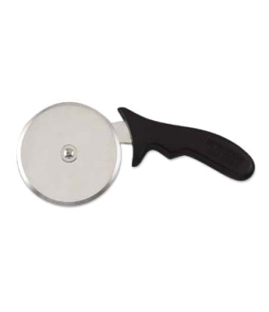 "Pizza Cutter, 9-1/4""L, 4"" dia. stainless steel wheel, 7"" L, ABS plastic handle"