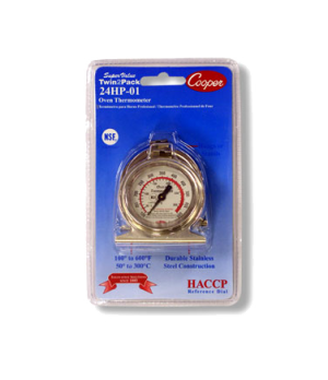 "Oven Thermometer, HACCP referenced 2"" dial with colored zone highlighting proper"