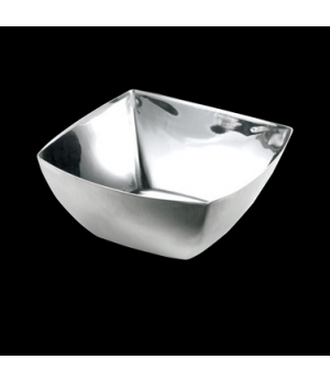 "Bowl, 10 oz., 4-1/2"" x 2"", square, brush/mirror finish, WNK Accessories (priced"