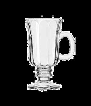 "Irish Coffee Mug, 8-1/4 oz., with handle & optic, (H 5-7/8""; T 3-1/8""; B 2-3/4"";"