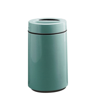"Ash/Trash Receptacle, 32 gallon, 16"" square, sand top, fiberglass, retainer band"