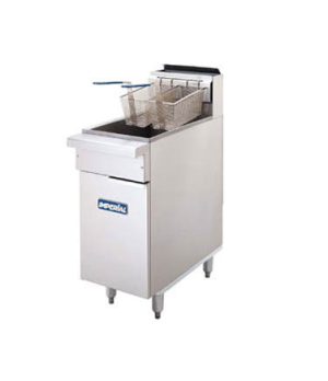 Restaurant Series Range Match Fryer, gas, floor model, 40lb. capacity, tube fire