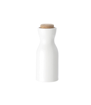 Creamer, 5 oz., with cork stopper, white, premium porcelain, Artesano