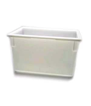 "Food Storage Container, 18"" x 26"" x 15"", 22 gallon capacity, natural white, poly"