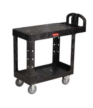 """Flat Shelf Utility Cart, 37-7/8""""W x 19-3/16""""D x 33-5/16""""H, two shelves, 500 lb."""