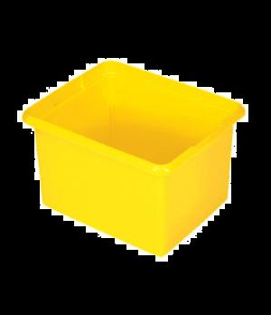 """Organizing Bin, 11"""" L x 17-1/2"""" W x 14"""" H, 30 qt., yellow"""