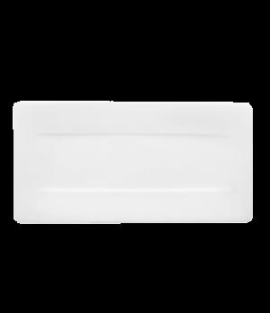 "Plate, 17-1/2"" x 9"", rectangular, premium bone porcelain, Modern Grace"