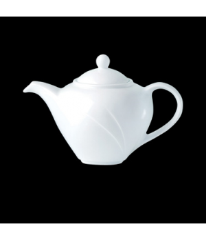 Teapot, 30 oz., with lid, Distinction, Alvo, Alvo White (priced per case, packed