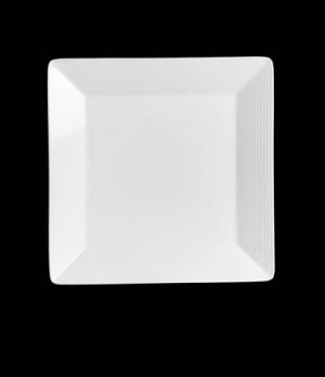 "Plate, 11-7/8"", square, rim deep, porcelain, Rene Ozorio Virtuoso (priced per ca"