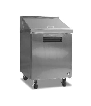 Commercial Series Sandwich Mega Top Refrigerator, Reach-in, One-Section, 7.2 cu.