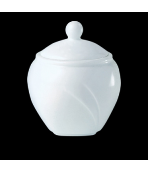 Sugar Bowl/Bouillon, 8 oz., with lid, Distinction, Alvo, Alvo White (priced per