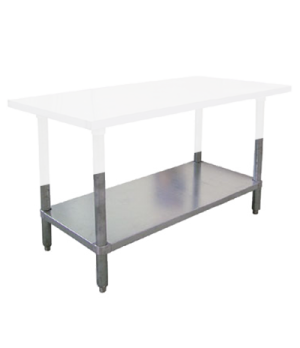"(17619) Elite Series Undershelf, 72""W x 24""D, galvanized with rolled die cast le"