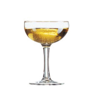 "Coupe Glass, 5-1/4 oz., Arcoroc, Elegance (H 4-3/4""; T 3-3/8""; B 2-3/4""; M 3-1/2"