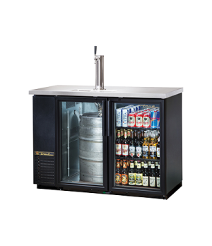 Draft Beer Cooler, door type, self-contained refrigeration, (2) shelves, (1) 1/2