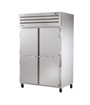 SPEC SERIES® Refrigerator, Reach-in, two-section, stainless steel front & sides,