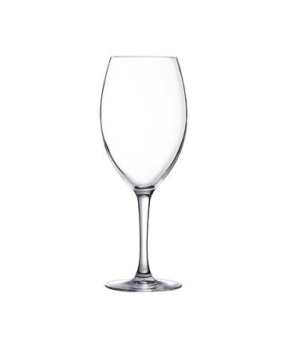 "Wine Glass, 15-3/4 oz., sheer rim, glass, Arcoroc, Malea (H 8-3/4"" T 2-5/8"" B 2-"