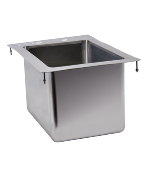 "(39780) Drop-In Sink, one compartment, 10"" wide x 14"" front-to-back x 10"" deep,"