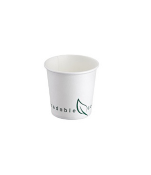 Disposable Cup, 3.8 oz. (115 ml) 6.0 cm dia., 6.0 cm height, biodegradable/compo