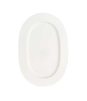 "Platter, 16-1/8"" x 11-3/8"", oval, premium bone porcelain, Stella Hotel"