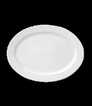 "Plate, 12-5/8"" x 9-3/8"" (32 x 24cm), oval, salamander/microwave/dishwasher safe,"