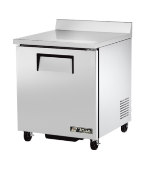 Work Top Freezer, one-section, -10° F, (2) shelves, stainless steel top with rea