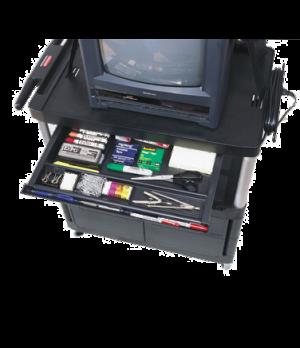 Utility Cart Sliding Drawer Kit, black