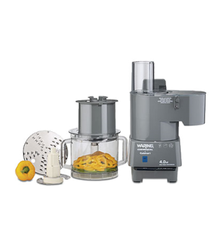 Commercial Food Processor, 4 qt., vertical chute feed design, continuous feed, p
