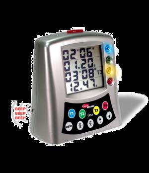 """Multi-Station Timer, 4-station LCD, 7"""" x 7"""" x 4.20"""" (17.8 x 17.8 x 10.7cm), LCD"""