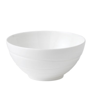 "Jasper Conran Gift Bowl 5-1/2"" dia., round, swirl design, dishwasher safe, bone"