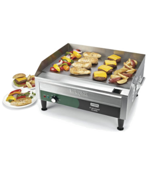 "Countertop Griddle, electric, 24"" x 16"" grilling surface, adjustable thermostat"