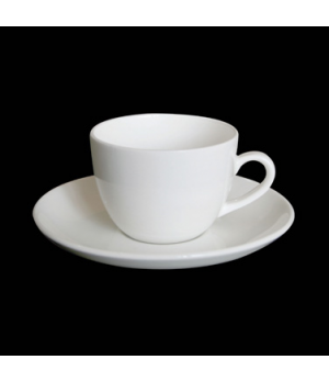 "Demitasse Cup, 3-1/2 oz., 3-1/2""W x 1-7/8""H, low, bone china, Tria (minimum = ca"