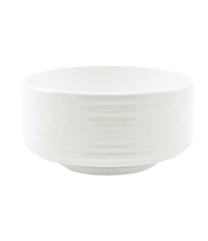 (18971) Fusion Soup Bowl, 11 oz. (33.0 cl), round, embossed, stackable, bone chi