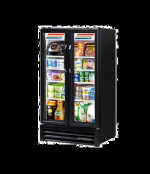 Refrigerated Merchandiser, two-section, (4) shelves, black vinyl exterior, white