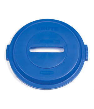 Brute® Recycling Container Lid, for paper, 32 gallon, blue (6 per case)