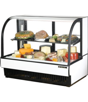 "Curved Glass Display Case (COLD DELI), 59-7/8""L, self-contained refrigeration, 5"