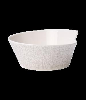 """Bowl, 8-1/4"""" x 6-3/4"""", 20-1/4 oz., free form, premium porcelain, Amarah Terra"""