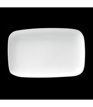 "Platter, 27 oz., 10"" X 7-1/4"" X 1-1/4"", rectangle, deep, porcelain, Tria, Simple"
