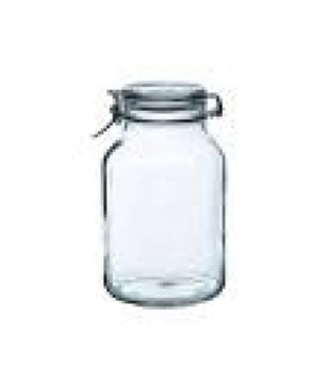 "Jar, 102-3/4 oz., 9-1/2""H, clear with white gasket, Bormioli, Fido (priced per c"