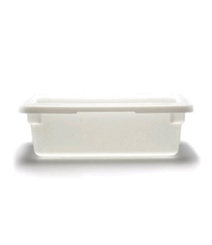"Food Storage Container, 12"" x 18"" x 6"", 3 gallon capacity, natural white, polyet"