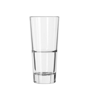 "Cooler Glass, 16 oz., DuraTuff®, ENDEAVOR™, (H 7""; T 3-1/4""; B 2-3/8""; D 3-1/4"")"