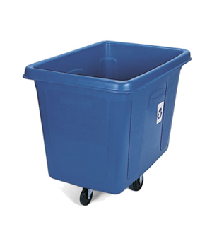 "Recycling Cube Truck, mobile, with ""We Recycle"" symbol, 43-3/4""L x 31""W x 37""H,"