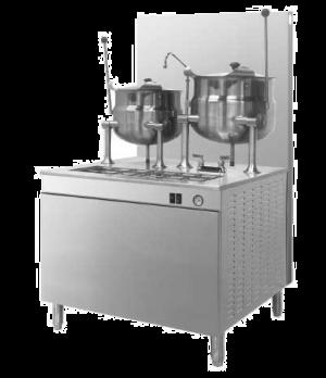 "Kettle/Cabinet Assembly, Gas, 36"" W cabinet base, (1 3-gallon & (1 6-gallon kett"