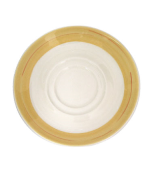 "Saucer, 6"" (15 cm), round, double well, scratch resistant, oven & microwave safe"