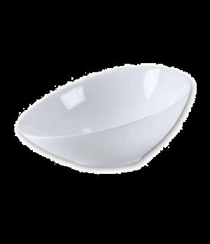"Bowl, 12"" x 9"" x 5"", oval, ceramic, bright white, Ovid"