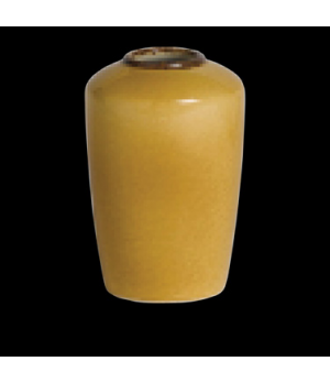 Madison Bud Vase, vitrified china, Performance, Terramesa, mustard (UK stock ite