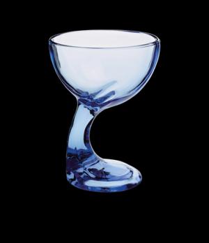 """Dessert Glass, 12-1/4 oz., 4-3/8"""" x 5-1/2', footed, sapphire, Bormioli, Jerba (p"""